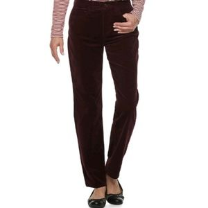 Croft & Barrow burgundy corduroy pants